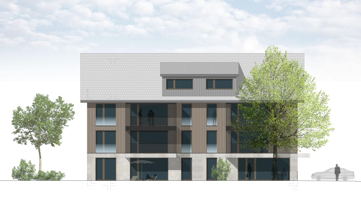 Studie Mehrfamilienhaus in Wäldi